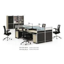 Poste de travail moderne de poste de travail de 4 personnes Conception de cubes de centre d'appel de bureau