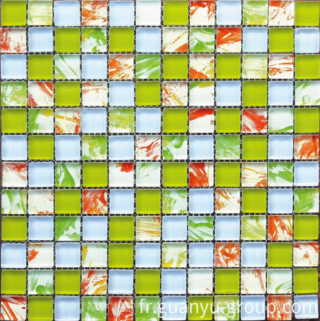Hand Painting Mosaic Tile