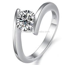 Vente en gros anneau en diamant 18 carats, or blanc 18 carats pour bijoux filles / bijoux dj908