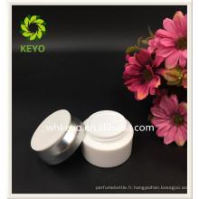 200g le plus vendu pot de plastique cosmétique vide de couleur blanche