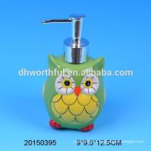 Симпатичные сова дизайн керамические руки мыло и лосьон бутылка