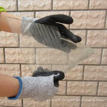 Sandy Nitrile Coating Hppe Fiber Gloves Safety Protectiion Work Glove
