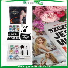 2015 getbetterlife New Fashionable Temporary Glitter Tattoos Kit/glitter tattoo kit/glitter tattoo set