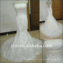 JJ2514 Vestido de boda sin mangas del cordón de la sirena atractiva libre del envío 2011