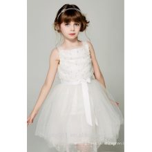party dress for 2-12 years old girls scoop neckline sleeveless baby dresses ED768