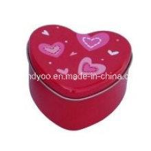 Vela de chá de coração vermelho de soja perfumada em lata