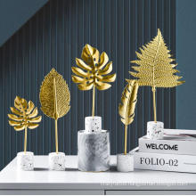 Creative Golden Leaves Simple Decorations Wine Cabinets Home Living Room TV Cabinets Desk Tops Turtle Leaves Home Decors