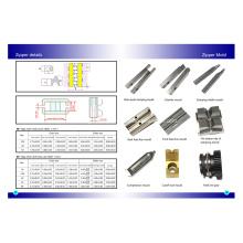 Molde para as peças da máquina da produção do zíper do metal
