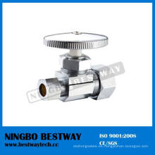 Válvula de detención de ángulo de compresión de múltiples vueltas cromada latón (BW-A46)