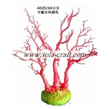 Red Color Wedding Table Tree Crystal Tree For Wedding Decoration With 60cm
