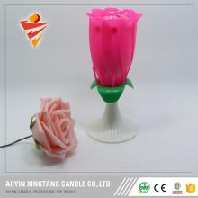 Роза цветок-поворот с днем рождения торт свеча
