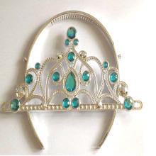 Nouvelle princesse en plastique clignotante métallisée Princess Tiara Crown