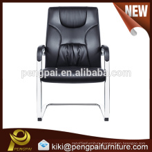 reinforce durable PU leather reclining meeting chair tubulous feets