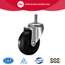 Threaded Stem Black Rubber Industrial Caster