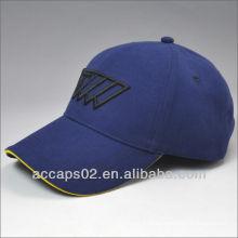 Logotipo bordado bordado boné de beisebol