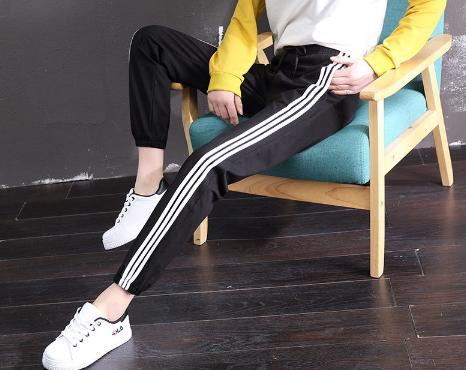 Side Stripe Cotton Sports Pants