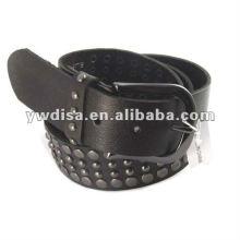 Металлические аксессуары Подлинный кожаный ремень Черный кожаный ремень