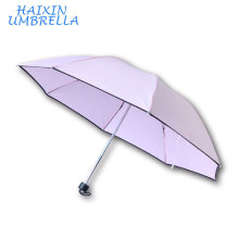 Yiwu Market Cheapest 8K Lattice Umbrella 3 Fold Travel Umbrella Print Ads For Sale