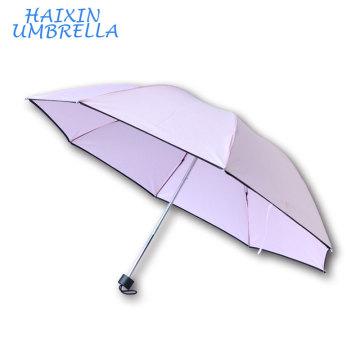 Yiwu Market Cheapest 8K Lattice Umbrella 3 Fold Travel Umbrella Print Ads For Sale