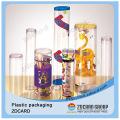 Embalagem de presente de produtos novos empacotar caixa de armazenamento redonda grande plástica clara