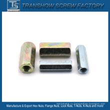 М8-М16 оцинкованная сталь шестигранная Гайка Соединительная DIN6334