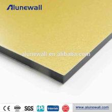 Revêtement de façade pour bâtiment 4 pieds * panneau de tôle composite en aluminium de 8 pieds