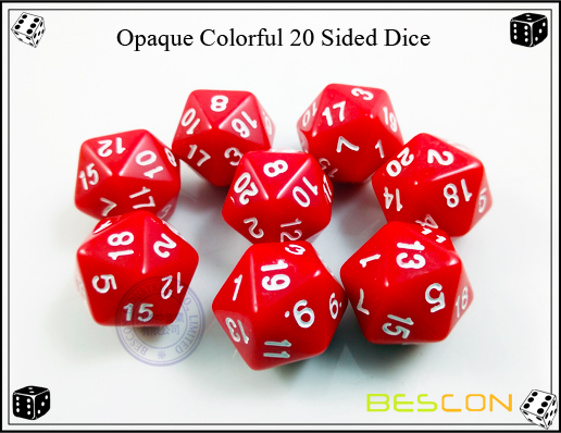 Opaque Colorful 20 Sided Dice-3