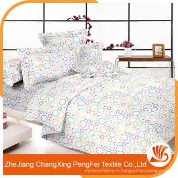 100% полиэстер микрофибры печатных постельных принадлежностей ткани для домашнего текстиля