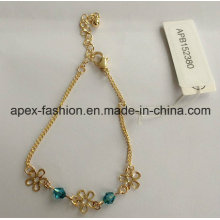 Fashion Lady Gold Plated Bracelet with Flower