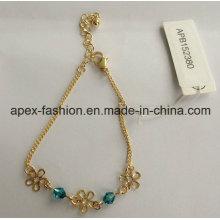 Мода леди позолоченный браслет с цветком