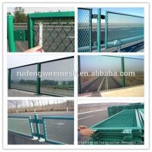 Red antideslumbrante revestida verde del panel de malla del PVC