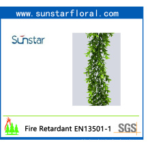 PE Plastic Boxwood Garland for Home Decoration with SGS Certificiate (48099)
