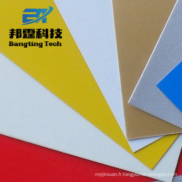 Feuille en aluminium décorative enduite de couleur avec des prix bas