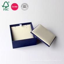 Fabrik OEM Karton Verpackung Leder Papier Schmuck Box