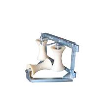 Rouleau rectangle en coin avec roue en nylon