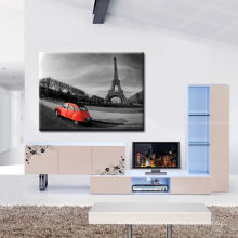 B&W Eiffel Tower Canvas Prints