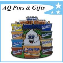 High Quality Metal Badge Pin for World Series Run (badge-161)