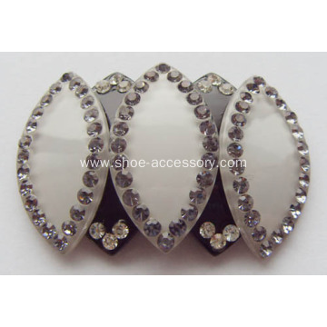 Charming Rhinestone Shoe Clips, Acrylic Shoe Buckle