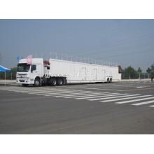 2 essieu 2 étage transporteur de voitures remorque / voiture transporteur petites voitures SUV transporteur de voitures de transport