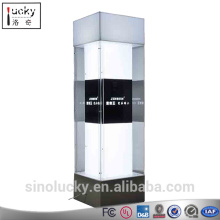 LED Lighted Acrylic Display Cabinet exhibition free standing lock jewelry display cabinet/acrylic body jewelry display