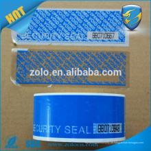 Sicherheitsband mit Perforationslinie und Nummernlogodruck
