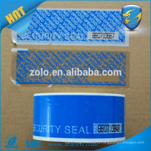 Security tape with perforation line and number logo printing