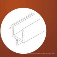 Tira de sellado adhesiva de la tira de sellado de puerta de cristal de la ducha del material del PVC para el vidrio templado