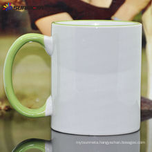 Sublimation 11oz Rim and Handle Color Ceramic Mug Made in China At Low Price Wholesale