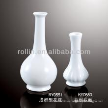 Jarrón de porcelana blanca duradera y saludable
