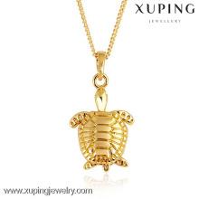 31059-Xuping Bijou de pendentif bijoux tortue en or exquis