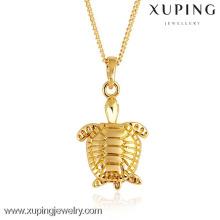 31059-Xuping requintado ouro tartaruga pingente de jóias charme