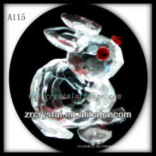 Bonita estatuilla de cristal animal A115