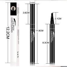 Wholesale 3 Colors 3D Eyebrow Pen 4 Fork Tips Fine Sketch Liquid Eyebrow Pencil Waterproof Eyebrow Pencil