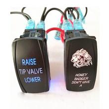 Стиль АРБ светодиод перекидной переключатель с подсветкой 4х4 и 4WD 12В включено-выключено переключатель